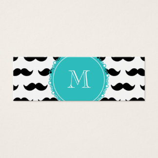 Modelo negro del bigote, monograma del trullo tarjeta de visita pequeña