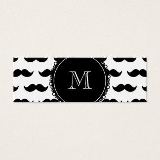 Modelo negro del bigote, su monograma tarjeta de visita pequeña