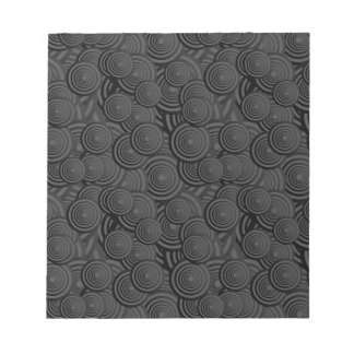 Modelo negro del círculo blocs de papel