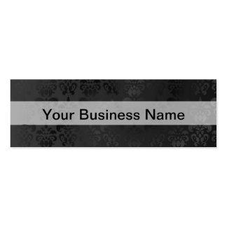 Modelo negro del damasco tarjetas de visita