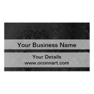 Modelo negro del damasco tarjeta de visita