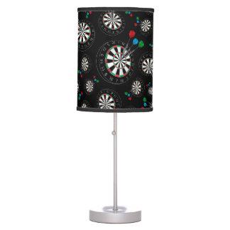 Modelo negro del dartboard lámpara de escritorio