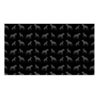 Modelo negro del dogo tarjetas de visita
