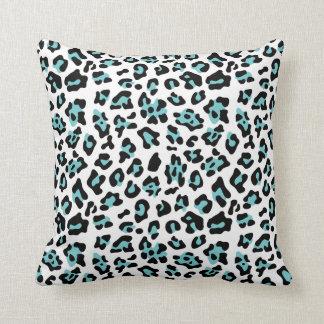 Modelo negro del estampado de animales del leopard almohada