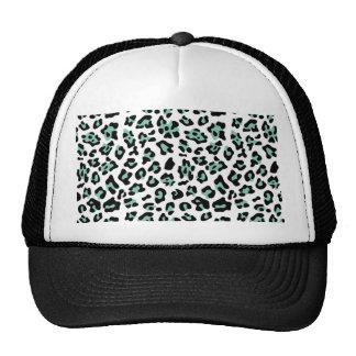 Modelo negro del estampado de animales del leopard gorro de camionero