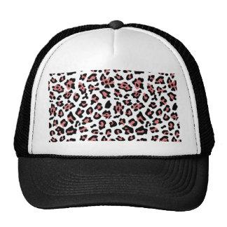 Modelo negro del estampado de animales del leopard gorras de camionero