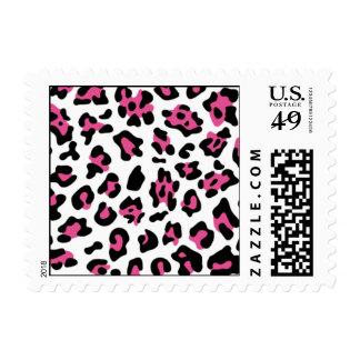 Modelo negro del estampado de animales del sellos postales