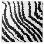 Modelo negro del estampado de zebra tejas  cerámicas