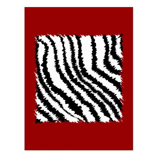 Modelo negro del estampado de zebra en de color postales