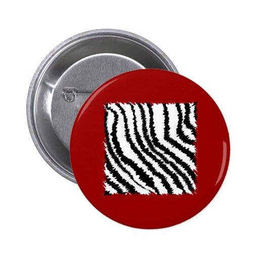 Modelo negro del estampado de zebra en de color ro pins