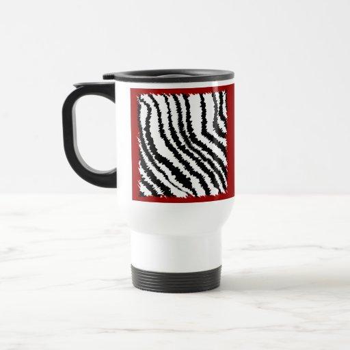 Modelo negro del estampado de zebra en de color taza de viaje de acero inoxidable