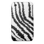 Modelo negro del estampado de zebra Case-Mate iPhone 3 carcasa