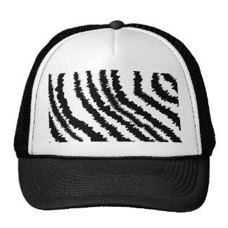 Modelo negro del estampado de zebra gorra