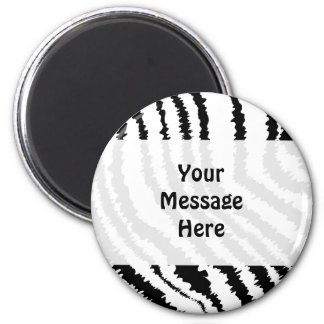 Modelo negro del estampado de zebra iman para frigorífico