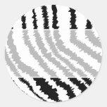 Modelo negro del estampado de zebra etiquetas redondas