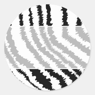 Modelo negro del estampado de zebra pegatina redonda