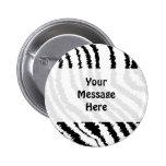 Modelo negro del estampado de zebra pins