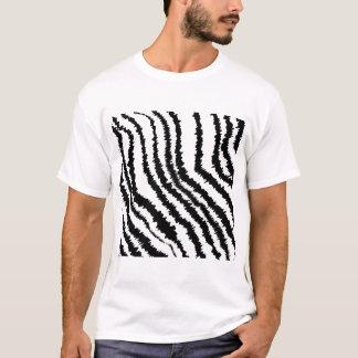 Modelo negro del estampado de zebra playera