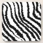 Modelo negro del estampado de zebra posavaso