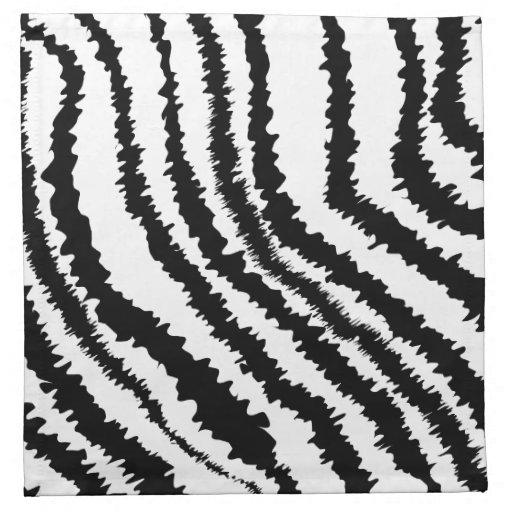 Modelo negro del estampado de zebra servilletas de papel