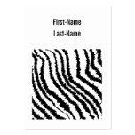 Modelo negro del estampado de zebra plantillas de tarjetas de visita