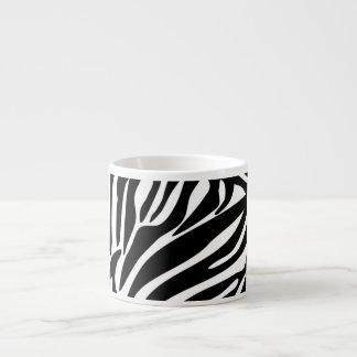 Modelo negro del estampado de zebra taza de espresso