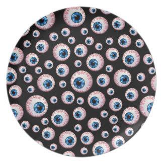 Modelo negro del globo del ojo plato