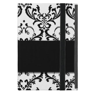 Modelo negro femenino lindo del damasco iPad mini cárcasa
