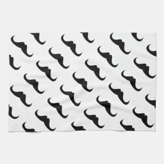 Modelo negro fresco del bigote del manillar del pe toallas de mano