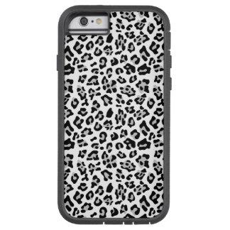 Modelo negro gris del estampado de animales del funda de iPhone 6 tough xtreme