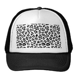 Modelo negro gris del estampado de animales del le gorra