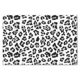 Modelo negro gris del estampado de animales del papel de seda pequeño