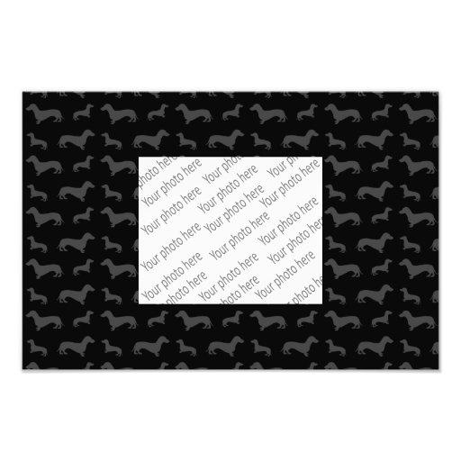 Modelo negro lindo del dachshund fotos