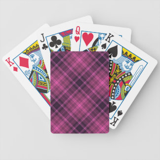 Modelo negro magenta de la tela escocesa baraja cartas de poker