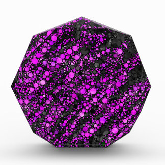 Modelo negro púrpura de Bling