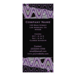 modelo negro púrpura lona publicitaria