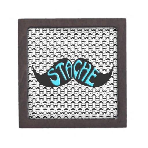 Modelo negro retro del manillar del bigote cajas de recuerdo de calidad