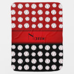 Modelo negro rojo conocido personalizado de los mantitas para bebé