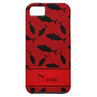 Modelo negro rojo conocido personalizado del atún iPhone 5 funda