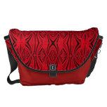 Modelo negro rojo elegante bolsas de mensajeria