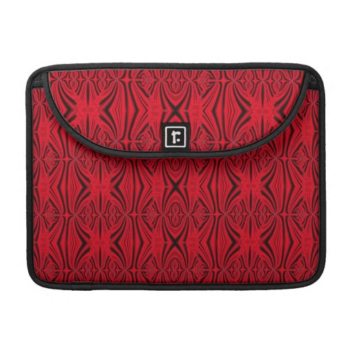 Modelo negro rojo elegante personalizado funda macbook pro