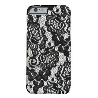 Modelo negro romántico del cordón funda barely there iPhone 6