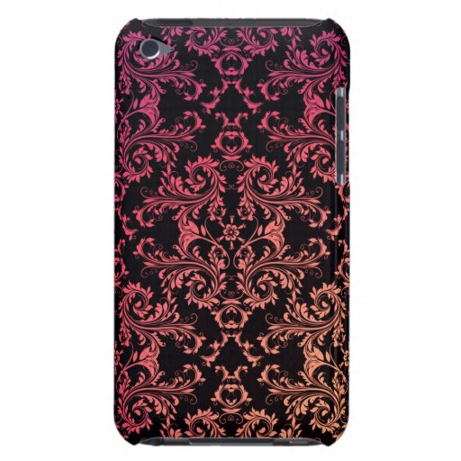 Modelo negro rosado anaranjado del damasco Case-Mate iPod touch coberturas