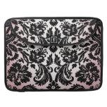 Modelo negro rosado bonito femenino del damasco de funda para macbooks