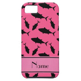 Modelo negro rosado conocido personalizado del iPhone 5 funda