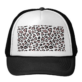 Modelo negro rosado del estampado de animales del  gorras
