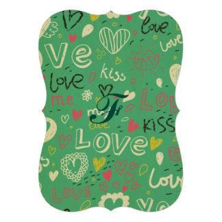 modelo negro verde de la lengua del amor de la anuncio personalizado