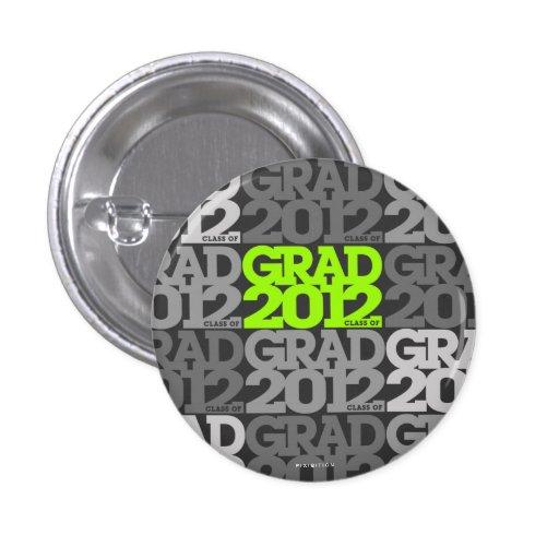 Modelo negro verde del botón de las graduaciones 2