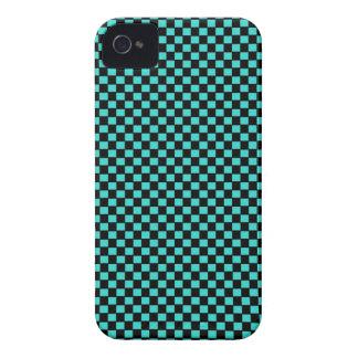 Modelo negro verde del tablero de damas iPhone 4 funda