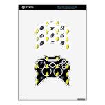 Modelo negro y amarillo del fútbol mando xbox 360 skin